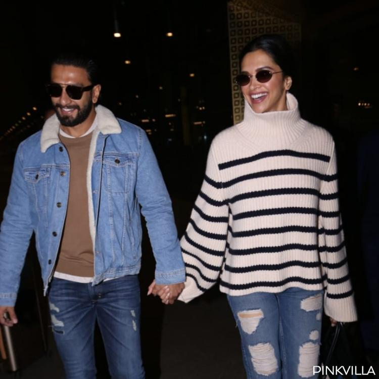 PHOTOS: Ranveer Singh and Deepika Padukone make for a happy couple as they returnfrom London