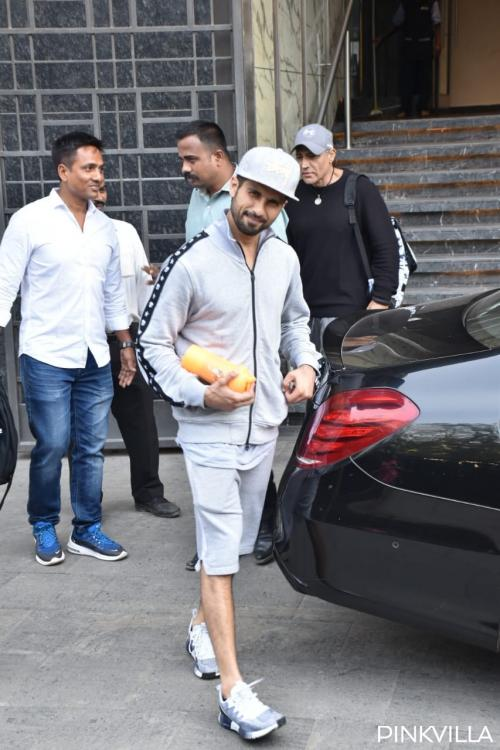 Shahid Kapoor was spotted in Mumbai post his gym session.