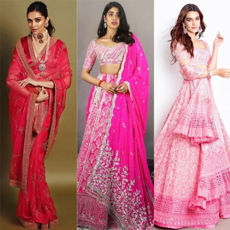Celebrity Style,deepika padukone,bollywood,fashion,alia bhatt,Kriti Sanon,Pink,festive colour