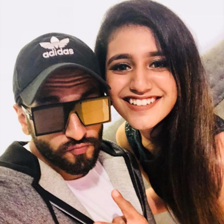 Check out: Priya Varrier poses for a selfie with Ranveer Singh; recreates her iconic scene with Vicky Kaushal