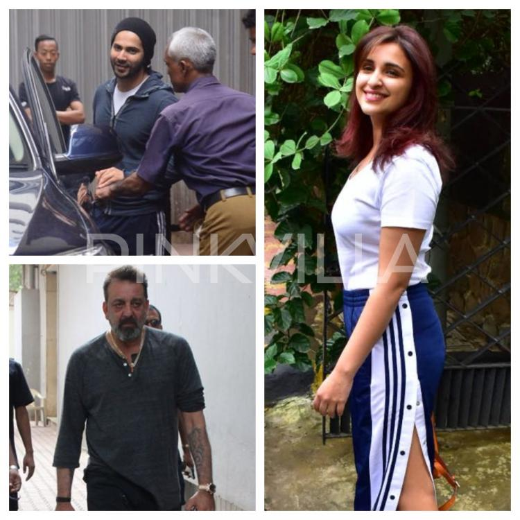 Photos,Sanjay Dutt,parineeti chopra,Varun Dhawan