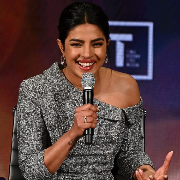 Priyanka Chopra Jonas one shoulder blouse with a pencil skirt is proof that she is a true boss lady; See Pics