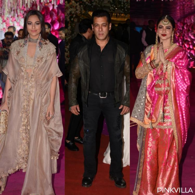 PHOTOS: Salman Khan, Rekha, Juhi Chawla and Sonakshi Sinha at Azhar Morani and Tanya Seth's wedding