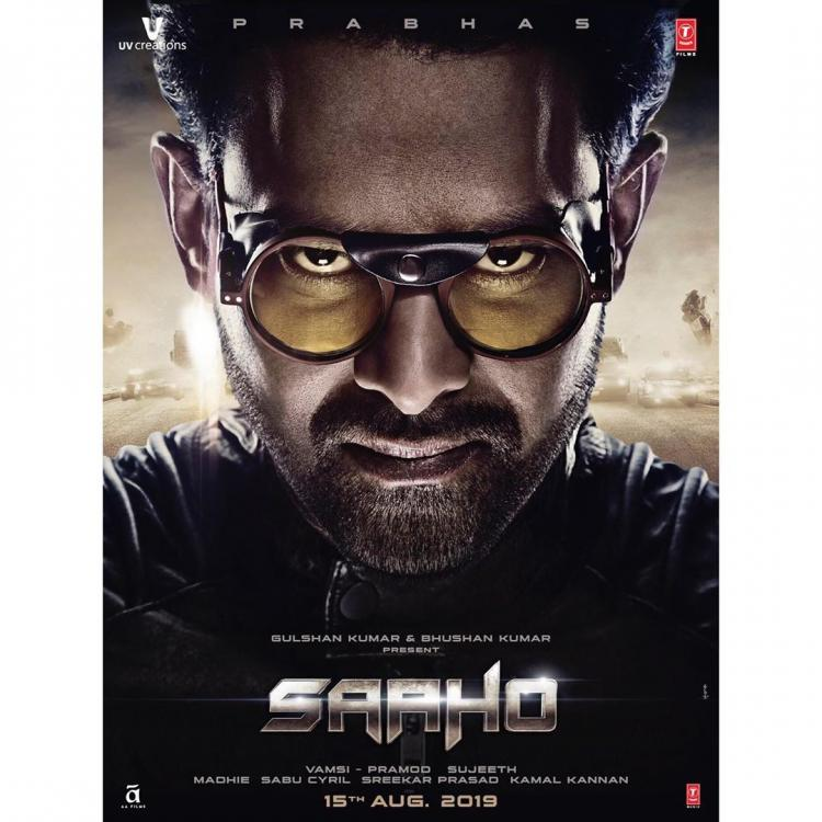 Saaho First Poster: Prabhas' intriguing look adds to the mystery of the sci fi film