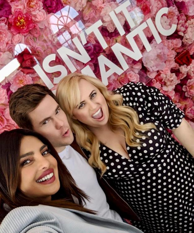 Priyanka Chopra Jonas enjoys some fun time with Rebel Wilson & Andy Devine while promoting Isn't It Romantic