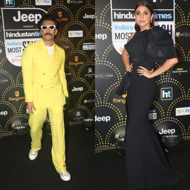 HT Style Awards 2019: Ranveer Singh and Anushka Sharma opt for Yellow and Black for the night