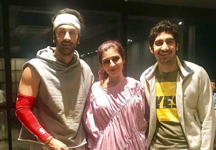 brahmastra this unseen photo of ranbir kapoor ayan from the sets
