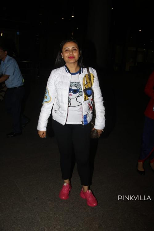 Rani Mukerji opts for a casual look as she gets snapped at the Mumbai airport; see photos