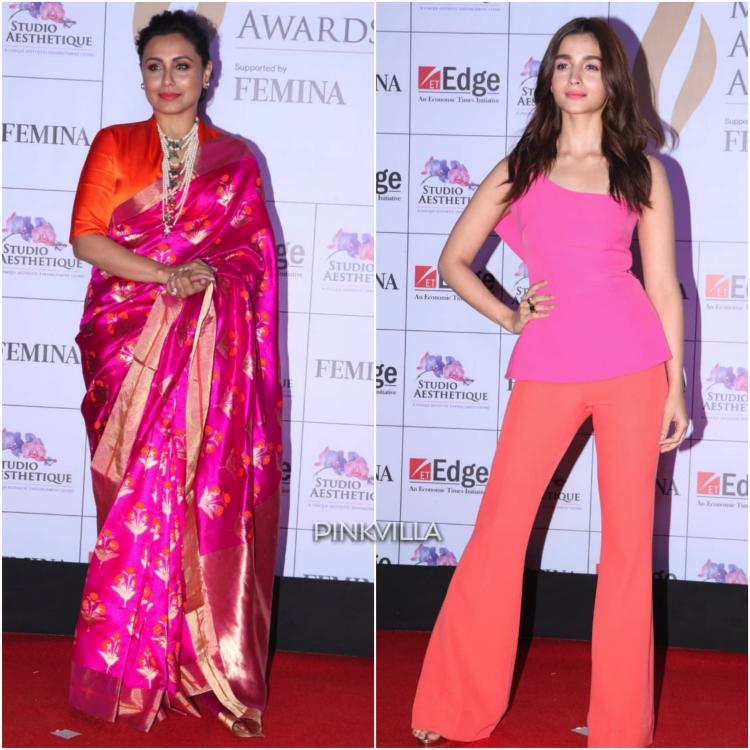 Rani Mukerji and Alia Bhatt at Mashrashtra Achievers' Awards