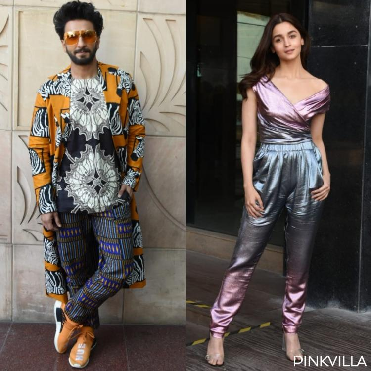 Photos: Ranveer Singh & Alia Bhatt channel their inner rockstars as they get snapped at Gully Boy promotions