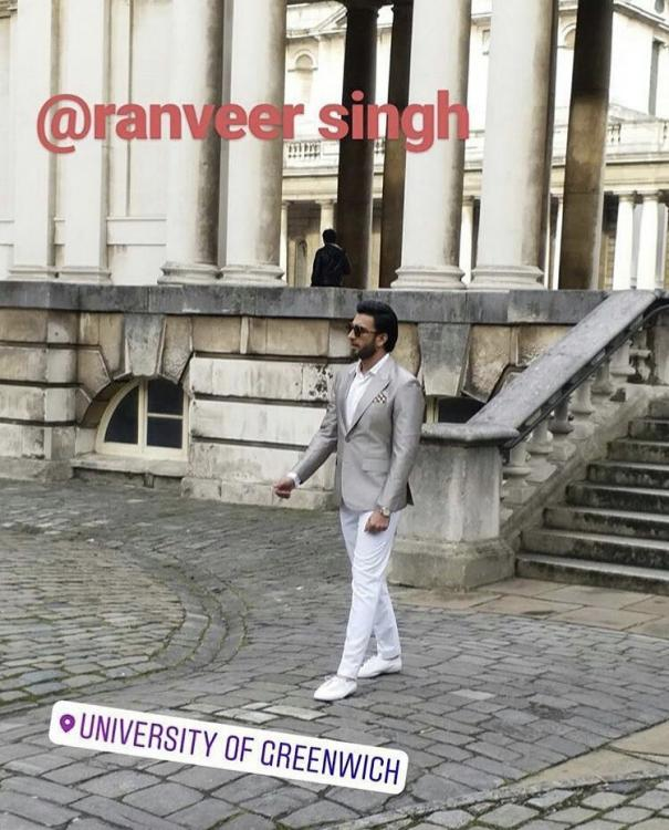 Photos: Ranveer Singh looks dapper as he shoots for a commercial in