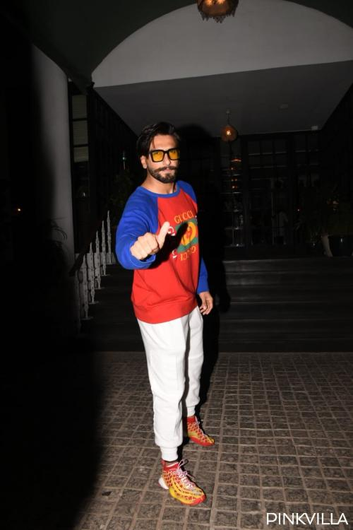 Photos: Ranveer Singh joins wife Deepika Padukone on a dinner date at a popular restaurant in the city