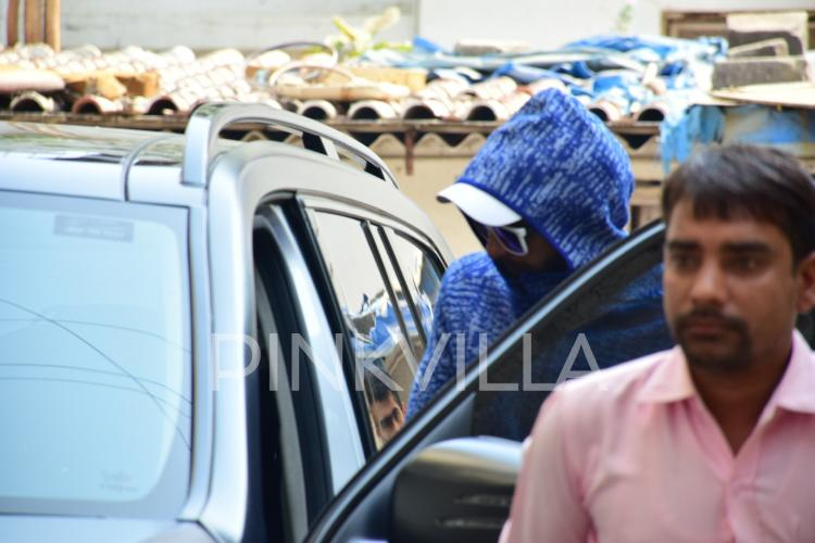 Photos: Ranveer Singh rocks the cool blue hoodie look in the city