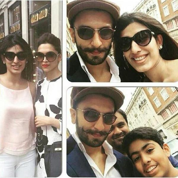 Deepika Padukone, Ranveer Singh having good time at London