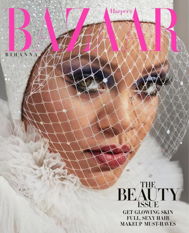 Rihanna's rainbow eye makeup on the cover of Harper's Bazaar could be the latest beauty IT trend