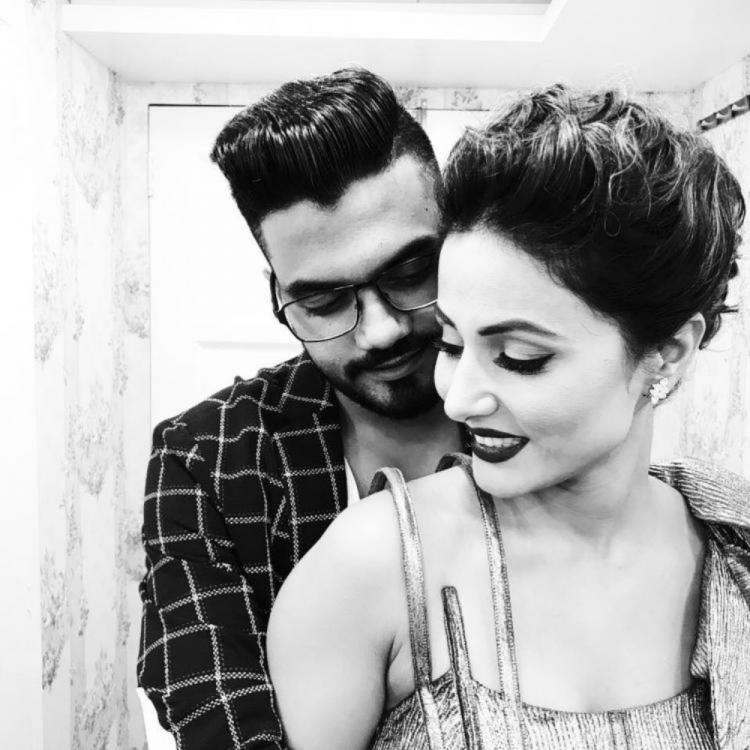 Hina Khan shares adorable videos of Rose Day celebration with boyfriend Rocky Jaiswal