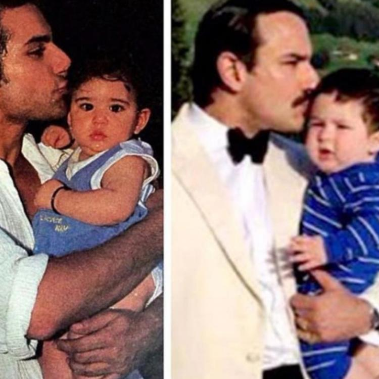 THIS throwback snap of Sara Ali Khan in daddy Saif Ali Khan's arms will remind you of Taimur Ali Khan; See Pic