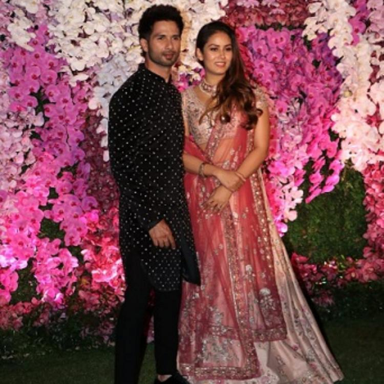 PHOTOS: Shahid Kapoor and wife Mira Rajput look royal at Shloka & Akash Ambani's wedding reception