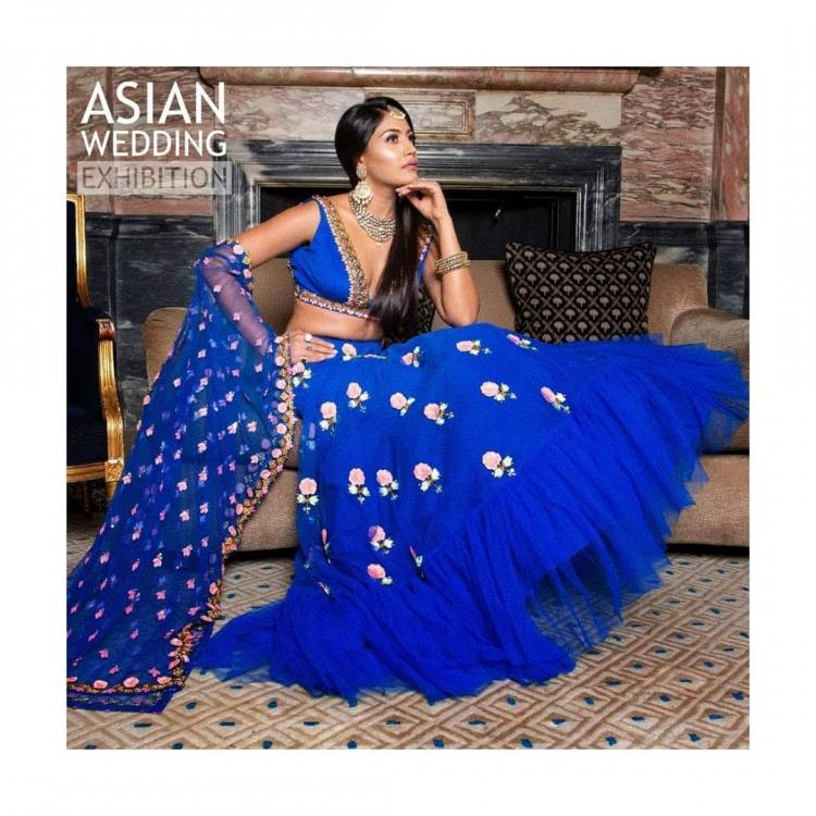 Surbhi Chandna in a blue embellished ensemble is beauty redefined; check it out