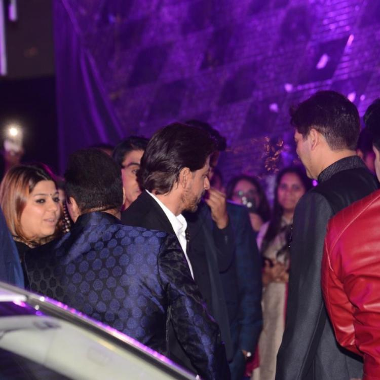 PHOTOS: Shah Rukh Khan arrives in style at Azhar Morani and Tanya Seth's Sangeet ceremony