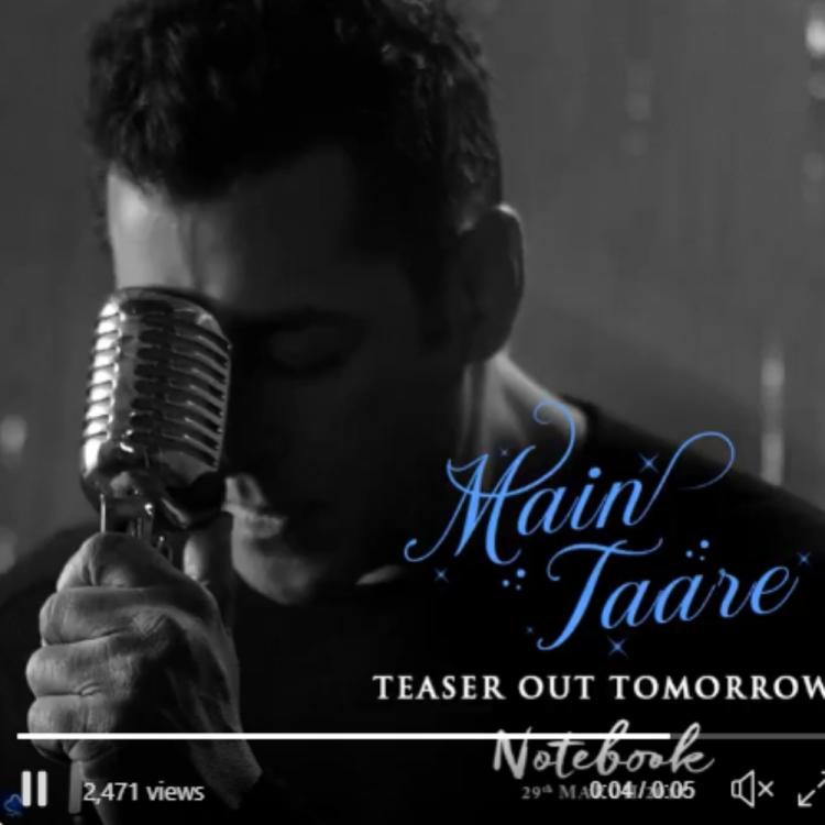 Salman Khan lends his voice again, this time for Main Taare song for Notebook; see pic