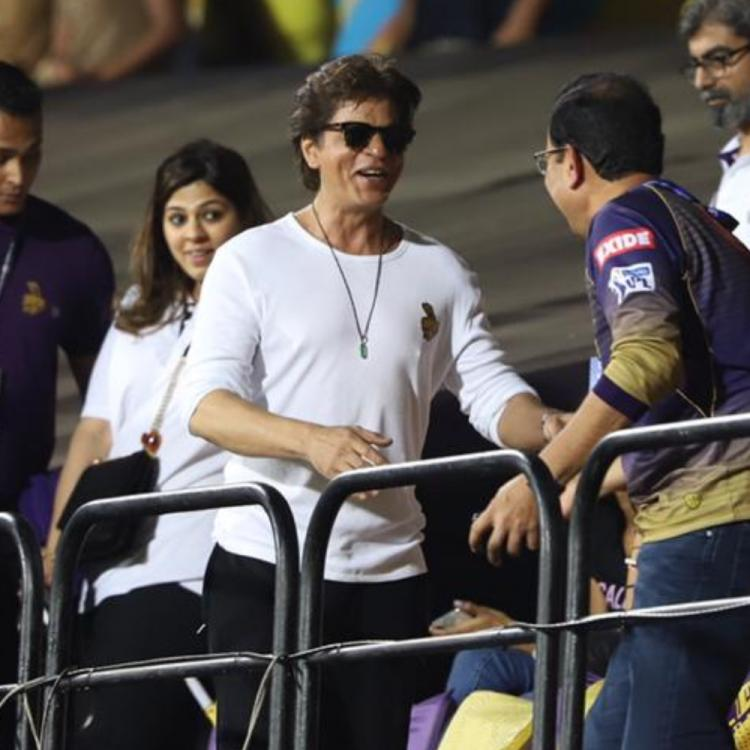 PHOTOS: Shah Rukh Khan cheers for his team Kolkata Knight Riders in the latest IPL match