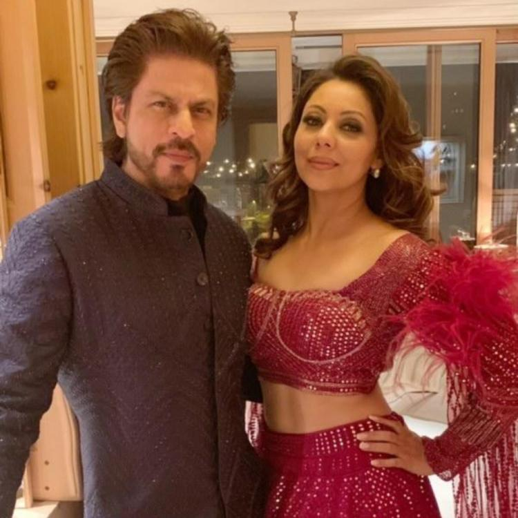 Shah Rukh Khan and wife Gauri Khan make for a royal couple as they attend a wedding; see pics