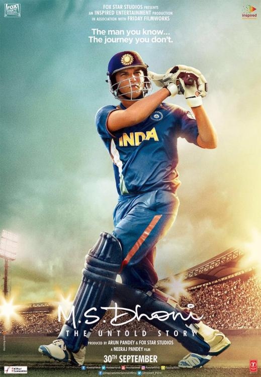 SSR Gets Set to Bat for Glory on the Latest Poster of the MS Dhoni ...