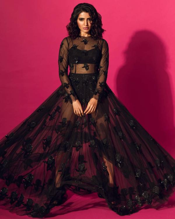 Fashion Alert: Samantha Akkineni looks sexy AF in a black sheer dress