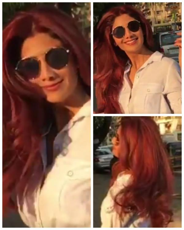 Fifty Shades Of Red Shilpa Flaunts Her New Hair Colour In A Slomo