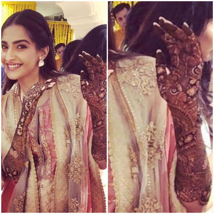 sonam kapoor s bridal mehendi design is intricate and