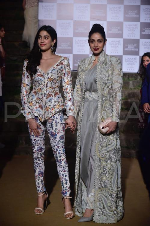 Sridevi And Daughter Janhvi Kapoor Make Heads Turn As They
