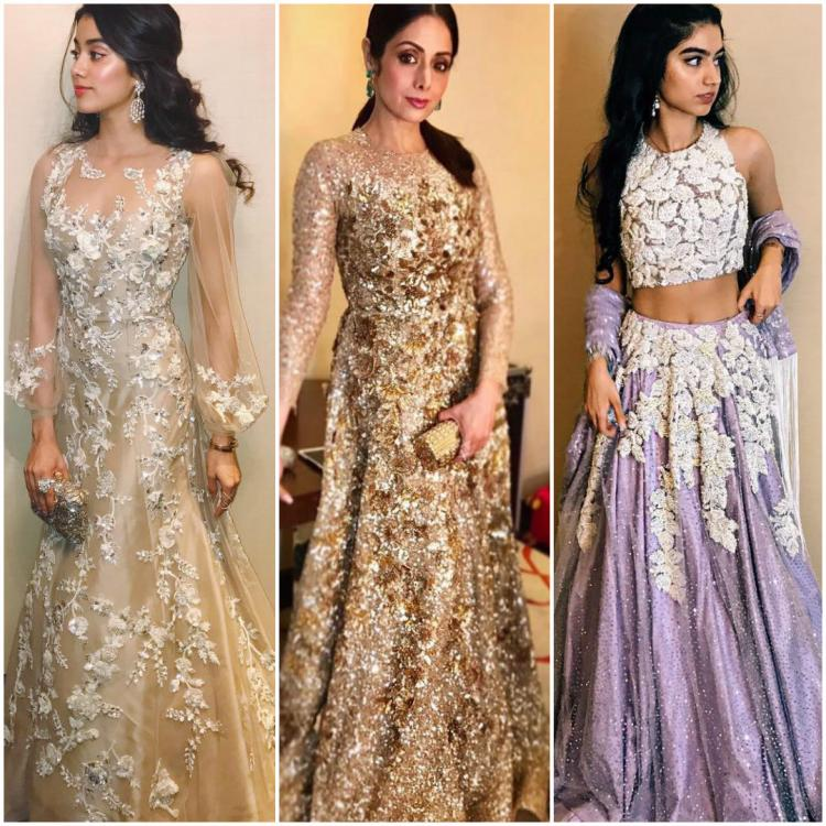Sridevi and her daughters play muse to Manish Malhotra and they look ...