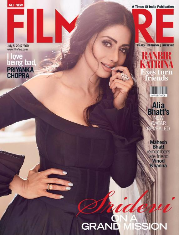 The ever so classic Sridevi looks mesmerising on the cover of Filmfare