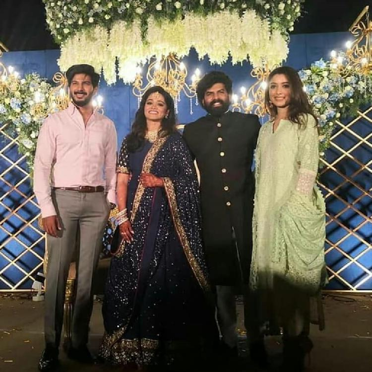 Sunny Wayne & Renjini Kunju Wedding Reception: Dulquer Salmaan & other Malayalam stars grace the celebration