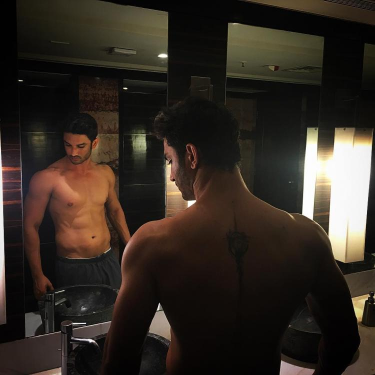 Sushant Singh Rajput flaunts his sexy tattoo and abs ...