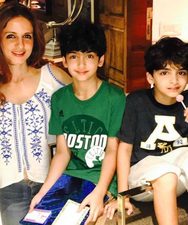 aww sussanne wishes hrehaan a happy birthday in the