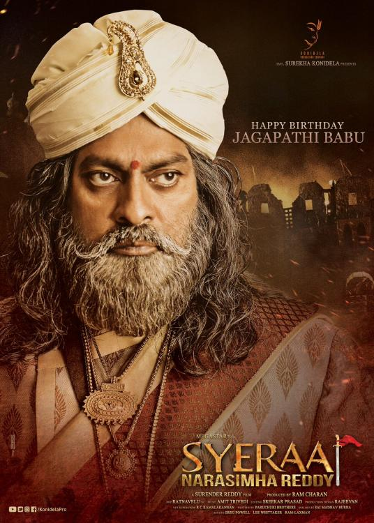 Sye Raa Narasimha Reddy: First powerful look of Jagapathi Babu is a visual treat to fans on his birthday