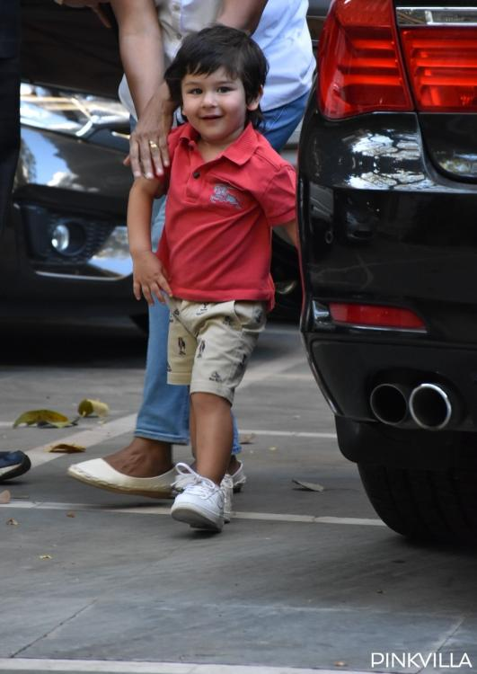 Taimur Ali Khan can't contain his excitement seeing the paps; see photos