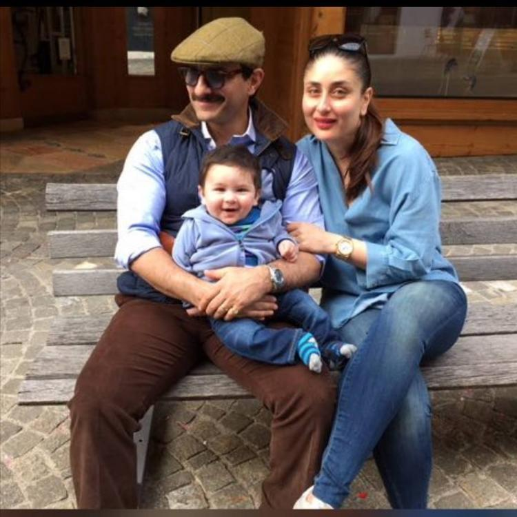 Image result for latest images of saif ali khan with his wife and son