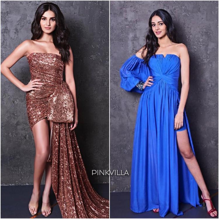 nanya Panday and Tara Sutaria made their Koffee Debut. For the taping, they wore Monisha Jaising and Nicole Felicia Couture respectively.