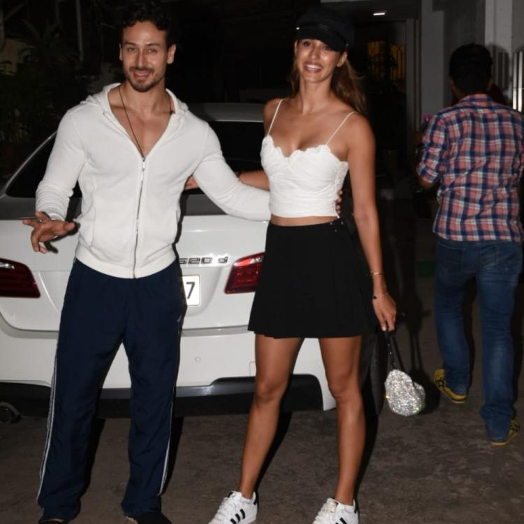 PHOTOS: Tiger Shroff & Disha Patani make a glamorous appearance together outside a recording studio
