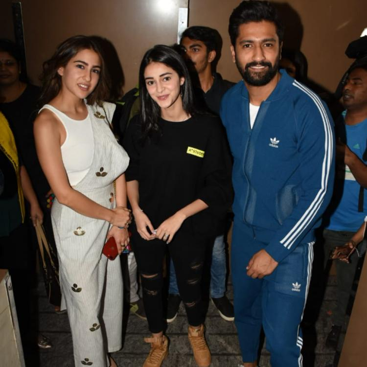 Sonchiriya screening: Sara Ali Khan and Ananya Panday are the new bffs in town, Vicky Kaushal joins in too