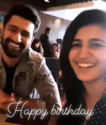 Priya Prakash Varrier wishes Vicky Kaushal on his birthday with this cute throwback video; Check it out