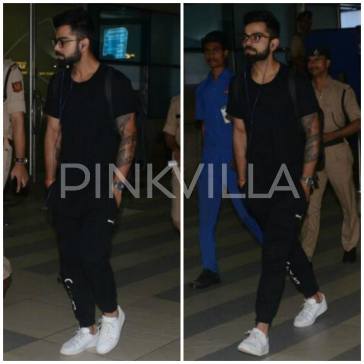Virat Kohli Is Back From Goa Gets Snapped At The Airport