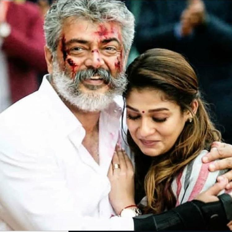 Nayanthara shares a picture from her movie Viswasam co starring Ajith Kumar