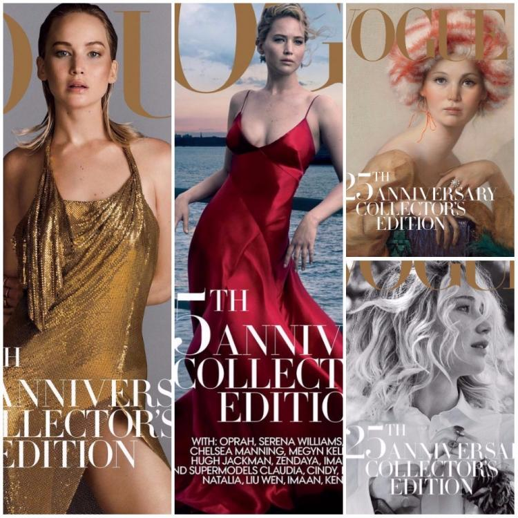 Jennifer Lawrence creates magic on four momentous Vogue covers in honour of it's 125th anniversary