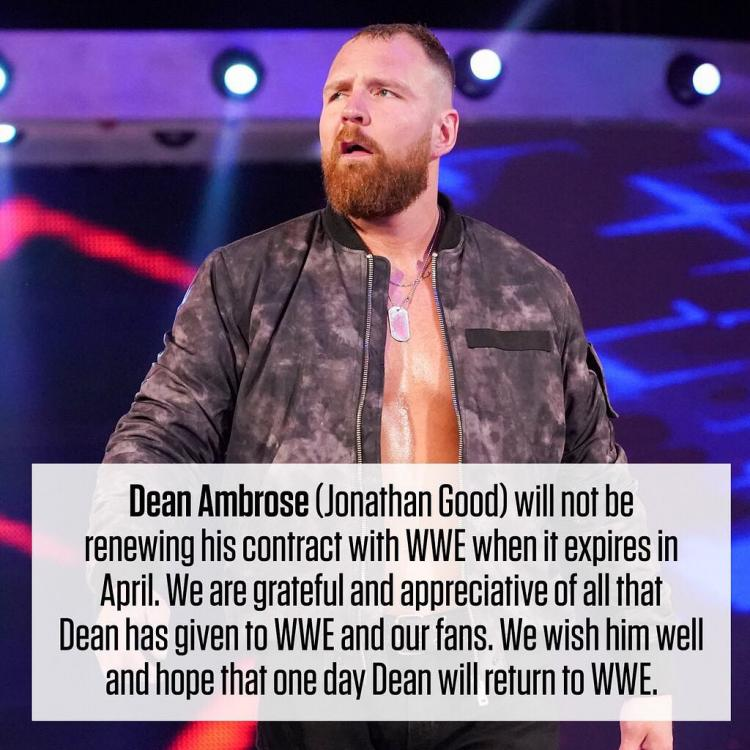Dean Ambrose fans were in for a shock when WWE revealed that the wrestler will not be renewing his contract in April 2019.