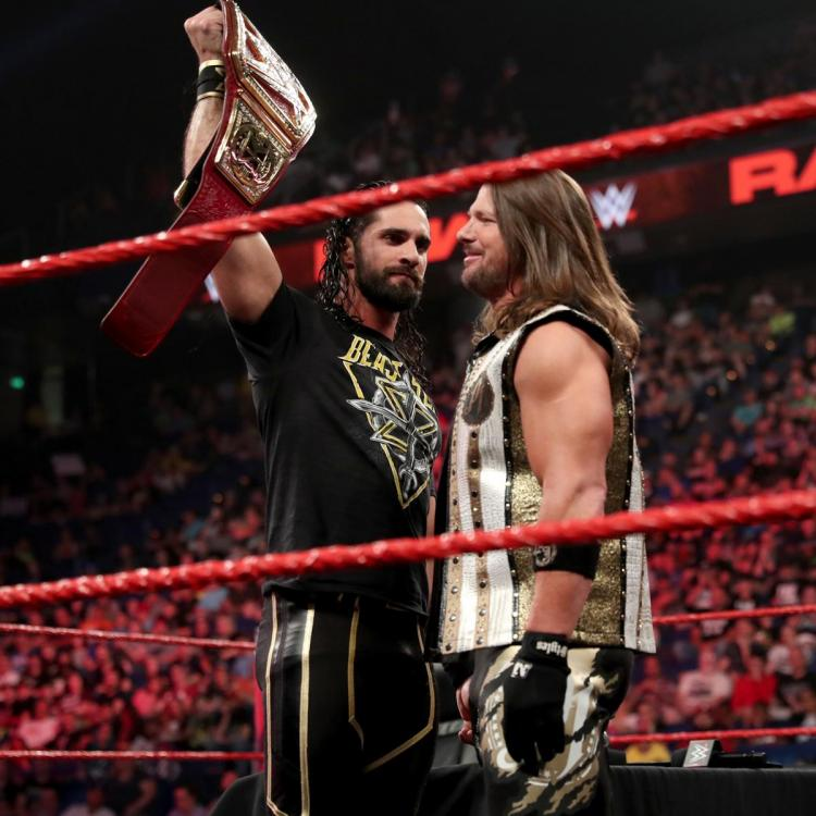 It's Seth Rollins vs. AJ Styles for the Universal Championship at Money in the Bank 2019.
