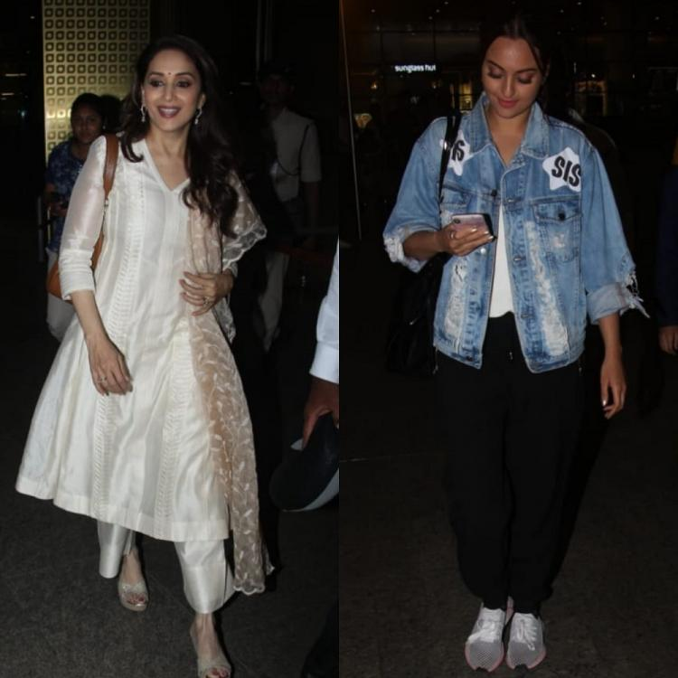 PHOTOS: Madhuri Dixit Nene and Sonakshi Sinha grab eyeballs as they were snapped at the airport